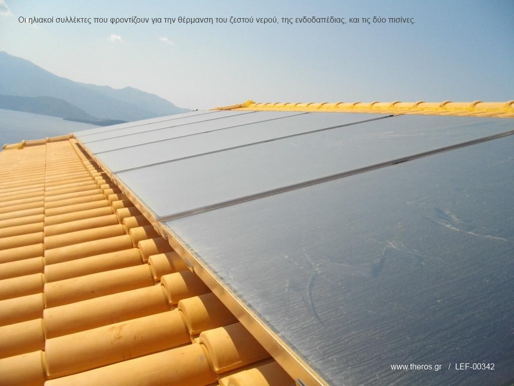 Ηλιακή θέρμανση με συλλέκτες Theros RK Alpin