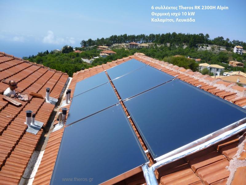 Οι ηλιακοί συλλέκτες στην κεραμοσκεπή