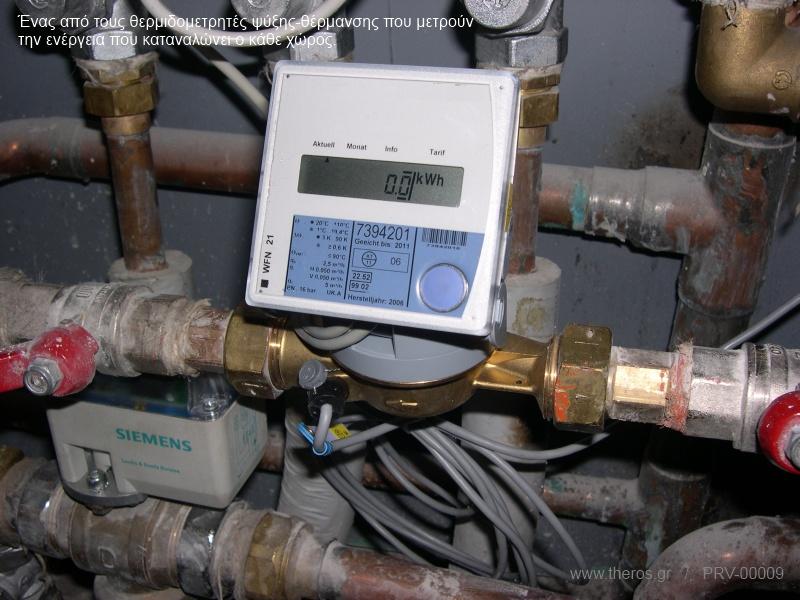 Θερμιδομετρητής ψύξης-θέρμανσης