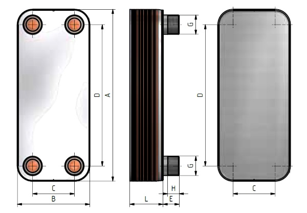 Σετ πλακοειδή εναλλάκτη θερμότητας WTS10-40