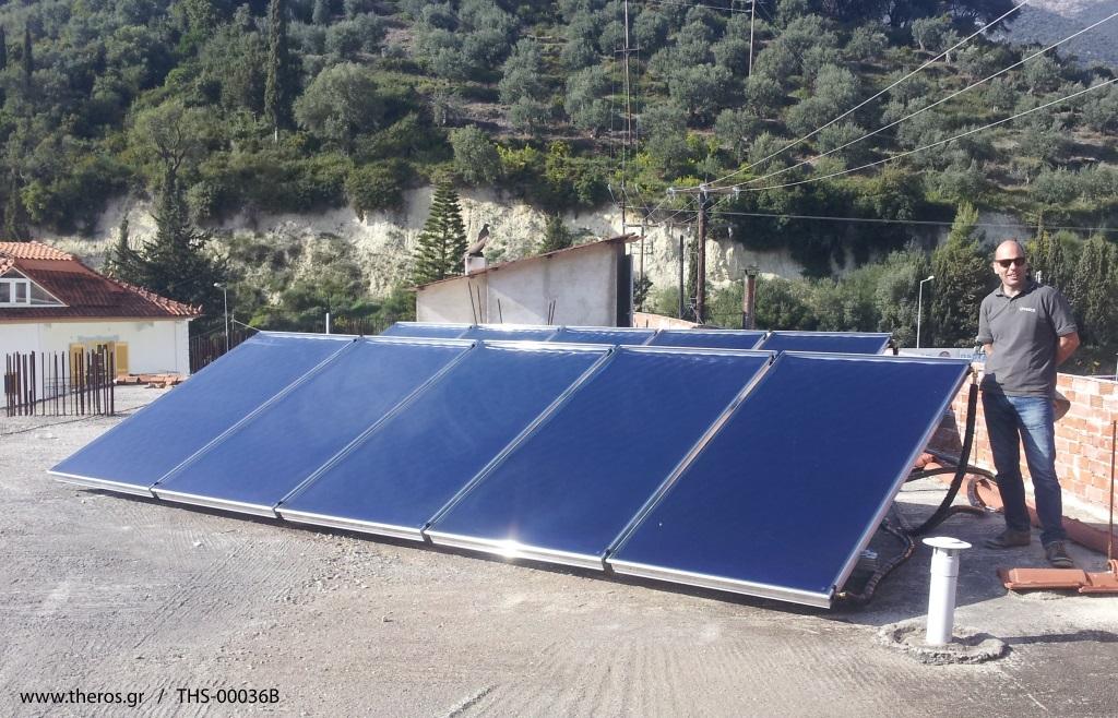 Ηλιακοί συλλέκτες RM2500V Alpin με βάσεις ταράτσας